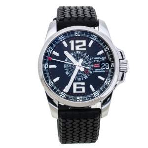 Chopard Black Stainless Steel Rubber MIlle Miglia GT XL 16-8514-3001 Men's Wristwatch 44 mm