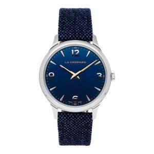 ساعة يد رجالية شوبارد L.U.C. XP 168592-3002 ستانلس ستيل زرقاء 40 مم