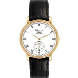 Chopard White 18K Yellow Gold Classique 1223 Men's Wristwatch 36 MM