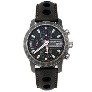 ساعة يد رجالية شوبارد غراند بريكس دو موناكو ميل ميغليا 168992-3032 جلد و تيتانيوم رصاصية 42 مم