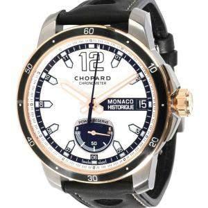 Chopard Silver 18K Rose Gold And Titanium Grand Prix de Monaco Historique 168569-9001 Men's Wristwatch 44.5 MM