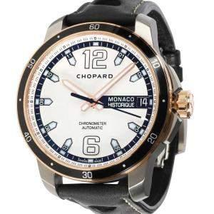 Chopard Silver 18K Rose Gold And Titanium Grand Prix de Monaco Historique 168568-9001 Men's Wristwatch 44.5 MM