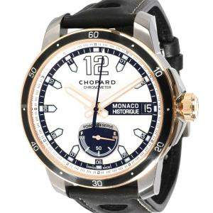 Chopard Silver 18K Rose Gold And Stainless Steel Grand Prix de Monaco 168569-9001 Men's Wristwatch 44.5 MM