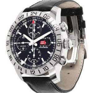 Chopard Black Stainless Steel Mille Miglia GMT 168992-3001 Men's Wristwatch 42.5 MM