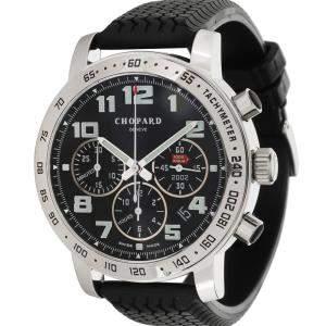 Chopard Black Stainless Steel Mille Miglia 16/8920 Men's Wristwatch 40.5 MM