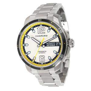 Chopard Silver Titanium And Stainless Steel Monaco Historique 158568-3001 Men's Wristwatch 44.5 MM