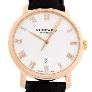 Chopard White 18K Rose Gold Classic 61278-5005 Men's Wristwatch 40 MM
