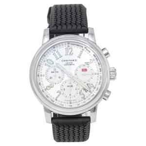 ساعة يد رجالية شوبارد ميل ميليا 168511-3015 مطاط ستانلس ستيل فضي 42 مم