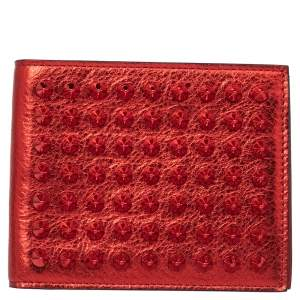 Christian Louboutin Red Spike Leather Paros Wallet