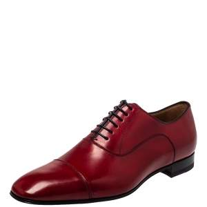 Christian Louboutin Red Leather Greggo Oxford Size 42