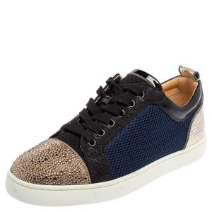 Christian Louboutin Multicolor Mesh And Leather Louis Junior Low Top Sneakers Size 42