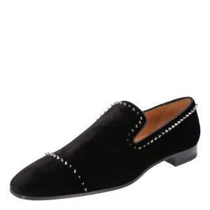 Christian Louboutin Black Studs Spikes Dandelion Loafers EU 43