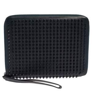 Christian Louboutin Blue Leather Cris Spike iPad Case