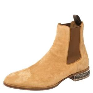 Christian Louboutin Beige Suede Chelsea Roadie Boots Size 42