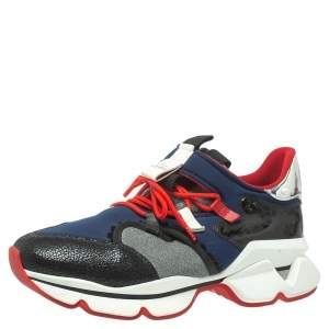 Christian Louboutin Neoprene And Leather Red-Runner Sneakers Size 45.5
