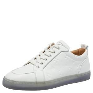 Christian Louboutin White Leather Rantulow Sneakers Size 42