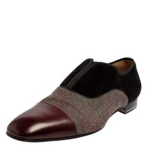حذاء لوفرز كريستيان لوبوتان ألفا كانفاس وسويدي متعدد الألوان مقاس 42.5