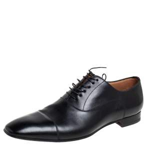 Christian Louboutin Black Leather Greggo Derby Size 44.5
