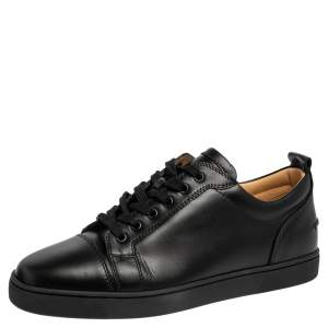 Christian Louboutin Black Leather Viera Low Top Sneakers Size 42.5