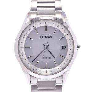 Citizen Silver Titanium Exceed Eco-Drive H110-T020011 Men's Wristwatch 37MM