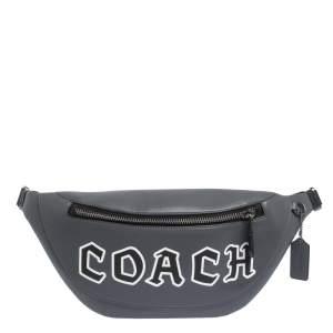 Coach Grey Leather Body Bag