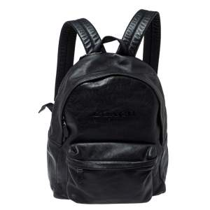 Coach Black Leather Campus Backpack