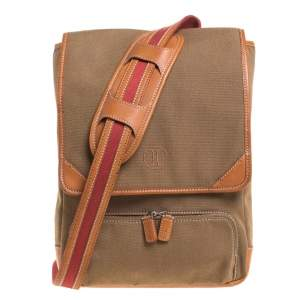 Cole Haan Brown Canvas Messenger Bag