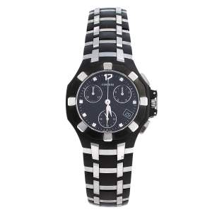 Concord Black Stainless Steel & Rubber Saratoga 14.H1.1881.1 Chrono Men's Wristwatch 33 mm