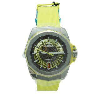 Corum Yellow Admiral Limited Edition Skeleton Titanium Automatic Men's Watch 45 MM
