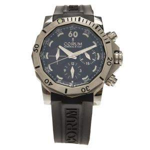 Corum Black Titanium Admiral's Cup Seafender Chronograph Men's Wristwatch 46MM