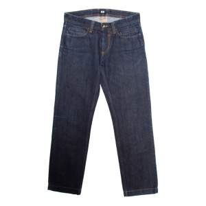 D&G Indigo Dark Wash Faded Effect Fitted Jeans S