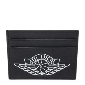 Dior Navy Blue Leather Air Dior Card Holder