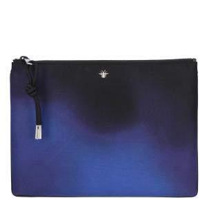 Dior Blue Canvas Ombre Clutch