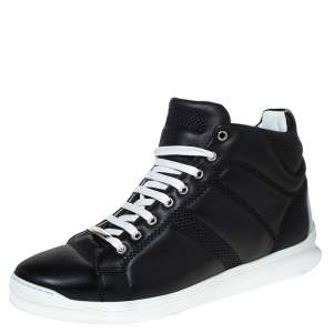 Dior Black Leather High-Top Sneakers Size 43.5