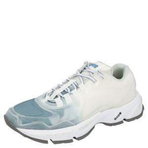 Dior White/Blue Fabric CD1 Sneakers Size EU 42