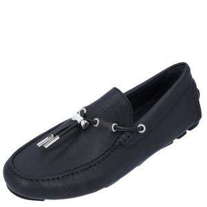 Dior Black Leather Loafers Size EU 40.5