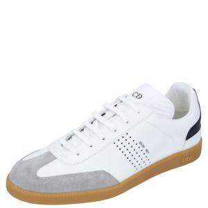Dior White Leather B01 Sneakers Size EU 44