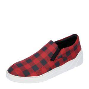 Dior Red Check Sneakers Size EU 40