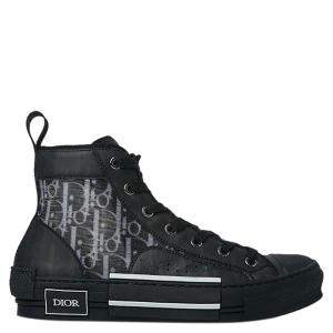 Dior Black Oblique High-Top B23 Sneakers Size EU 37