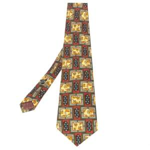 Christian Dior Monsieur Multicolor Floral Printed Silk Tie