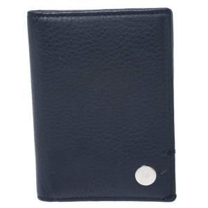 Dior Blue Leather Homme Card Holder