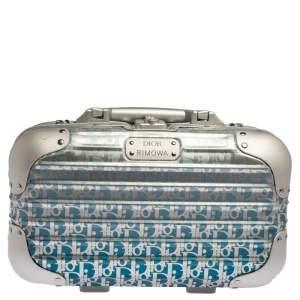 Dior x Rimowa Blue/Grey Oblique Print Aluminium Personal Case