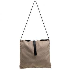 Dior Beige/Black Oblique Canvas and Mesh Shoulder Bag