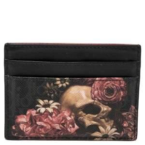 Dior Homme Black Oblique Coated Canvas and Leather Darklight Vanite Card Holder