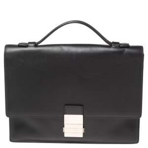 Dior Black Leather Small Briefcase