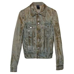 Dior Homme Pale Blue Waxed Denim Jacket S