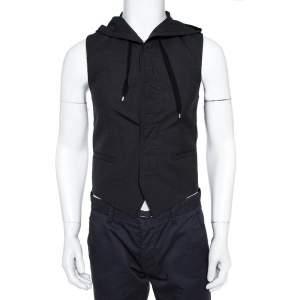Dior Black Wool Hooded Vest XS