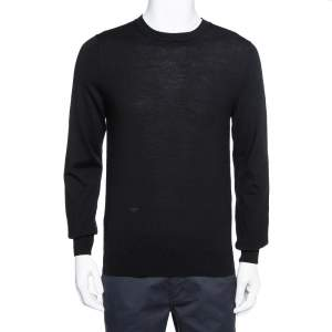 Dior Homme Black Wool Crewneck Sweater L