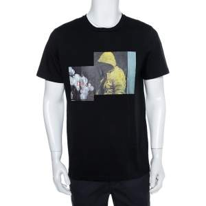 Dior Homme Black Cotton Graphic Print Crewneck T-Shirt L
