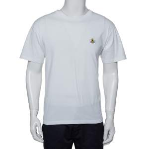 Dior Homme X KAWS White Cotton Bee Embroidered Oversized Crewneck T-Shirt M